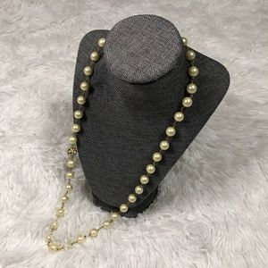 Vintage Stella&Dot Pearl and Pavé Necklace
